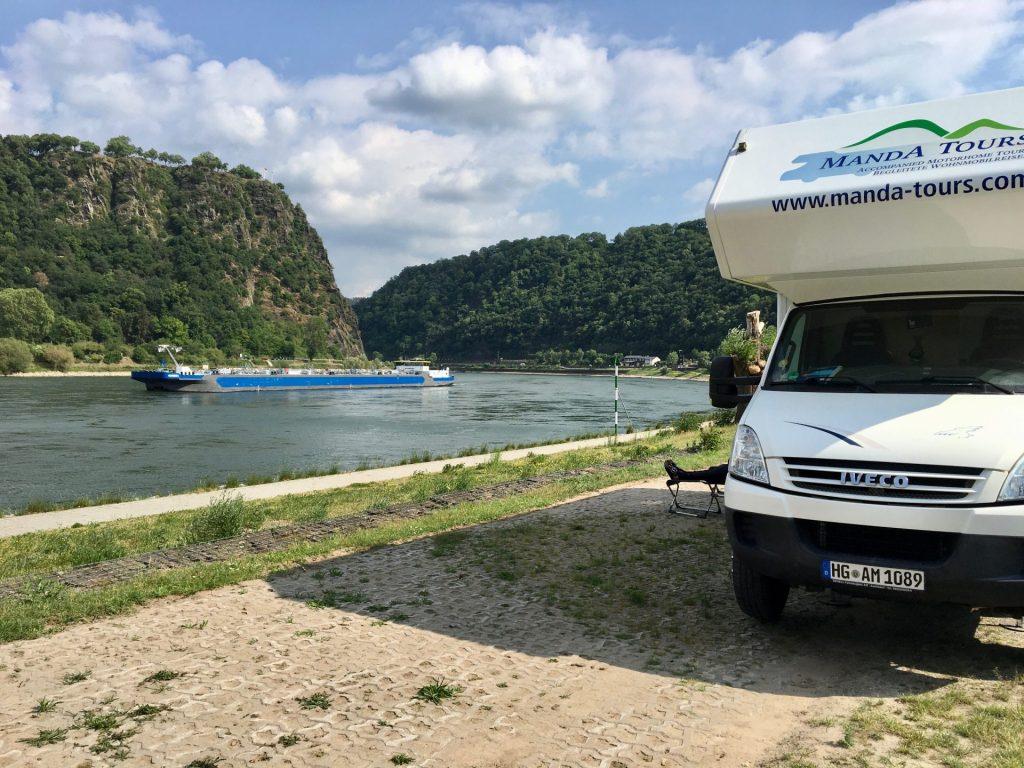 Motorhome at Loreley Rhine 2020