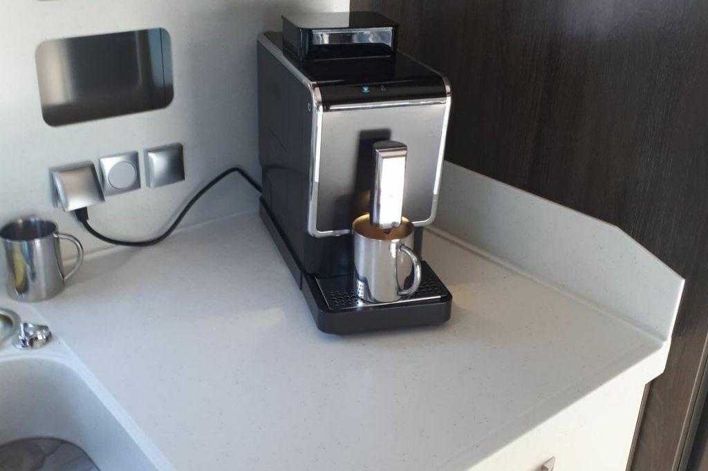 Coffeemaker in a motorhome