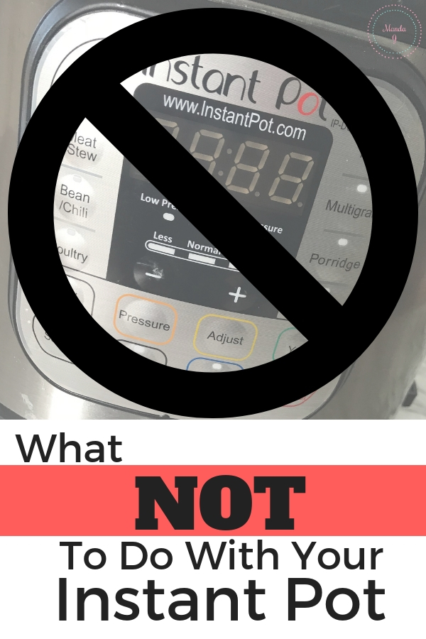 Instant Pot Picture with a No Symbol Over It