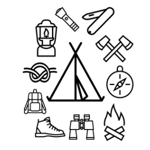 Cub Scout Camping Coloring Page Manda J