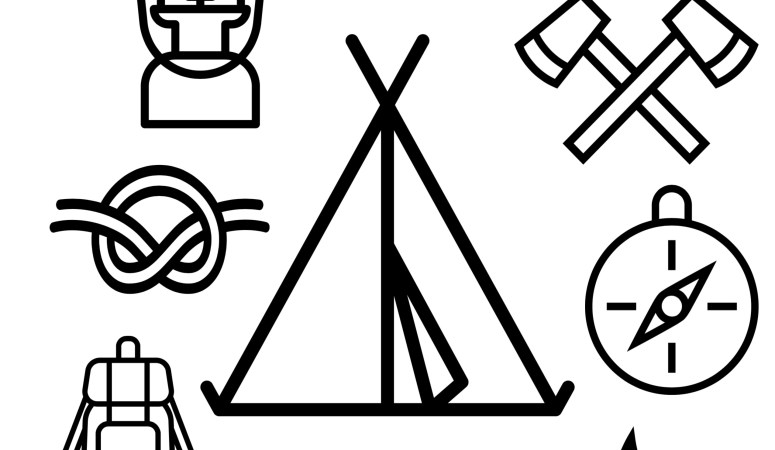 Cub Scout Camping Coloring Page