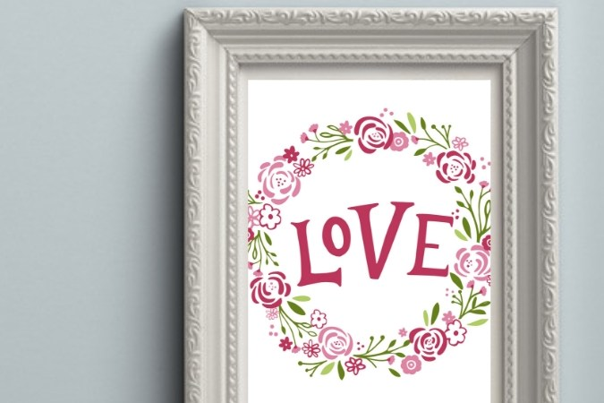 Love Sign: Free Valentines Day Printable
