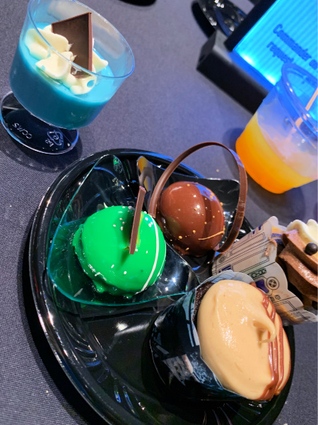 A plate of Star Wars themed desserts.