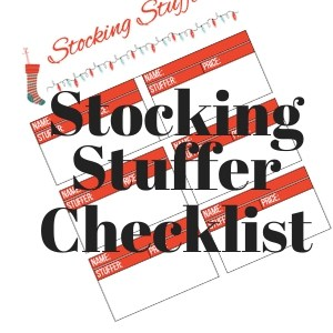 Stocking Stuffer Ideas and Planning – Free Printable