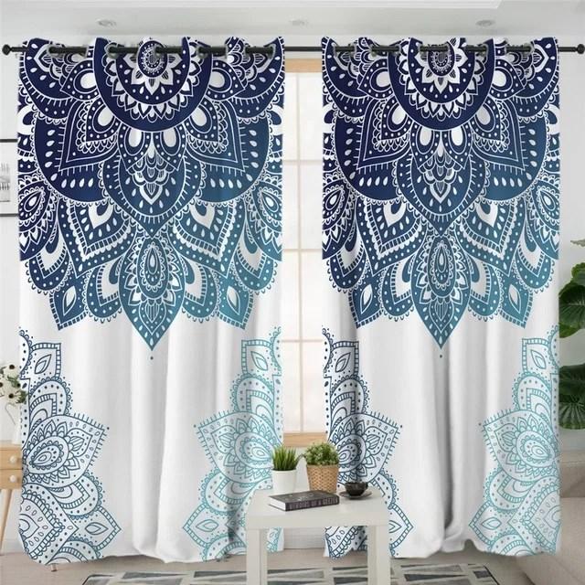 rideau salon chambre motif ethnique mandala