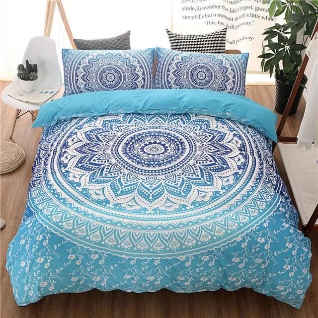 parure de lit motif mandala 260x240 200x200 220x240