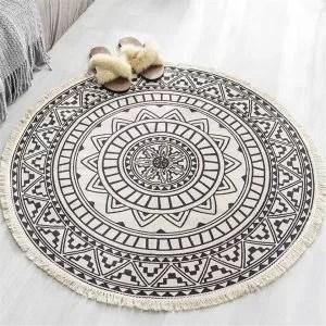 petit tapis mandala ethnique rond