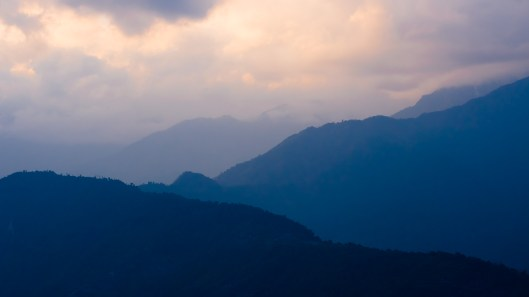 Dusk over Himalaya from Pelling, Sikkim