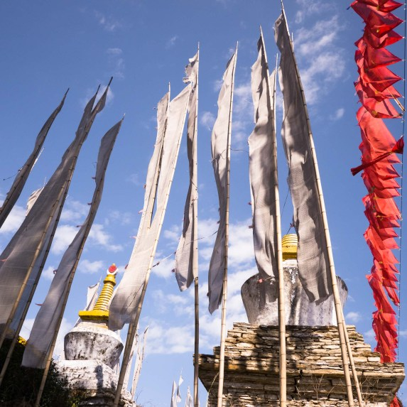 Prayer Flags at Sanghak Choeling monastery, Sikkim, India