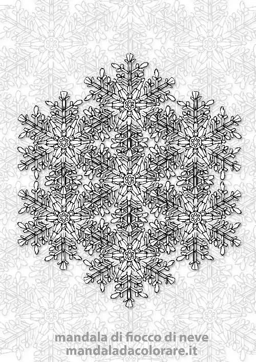 mandala dei fiocchi di neve