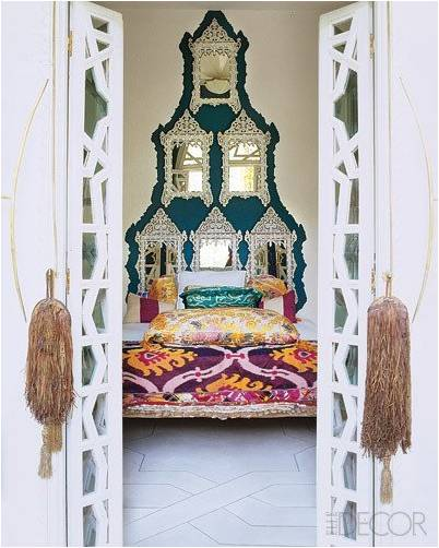Example of a Boho chic bedroom