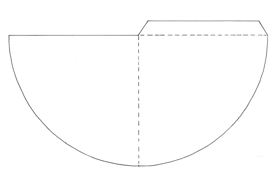 Blank corner bookmark template ready for your own design