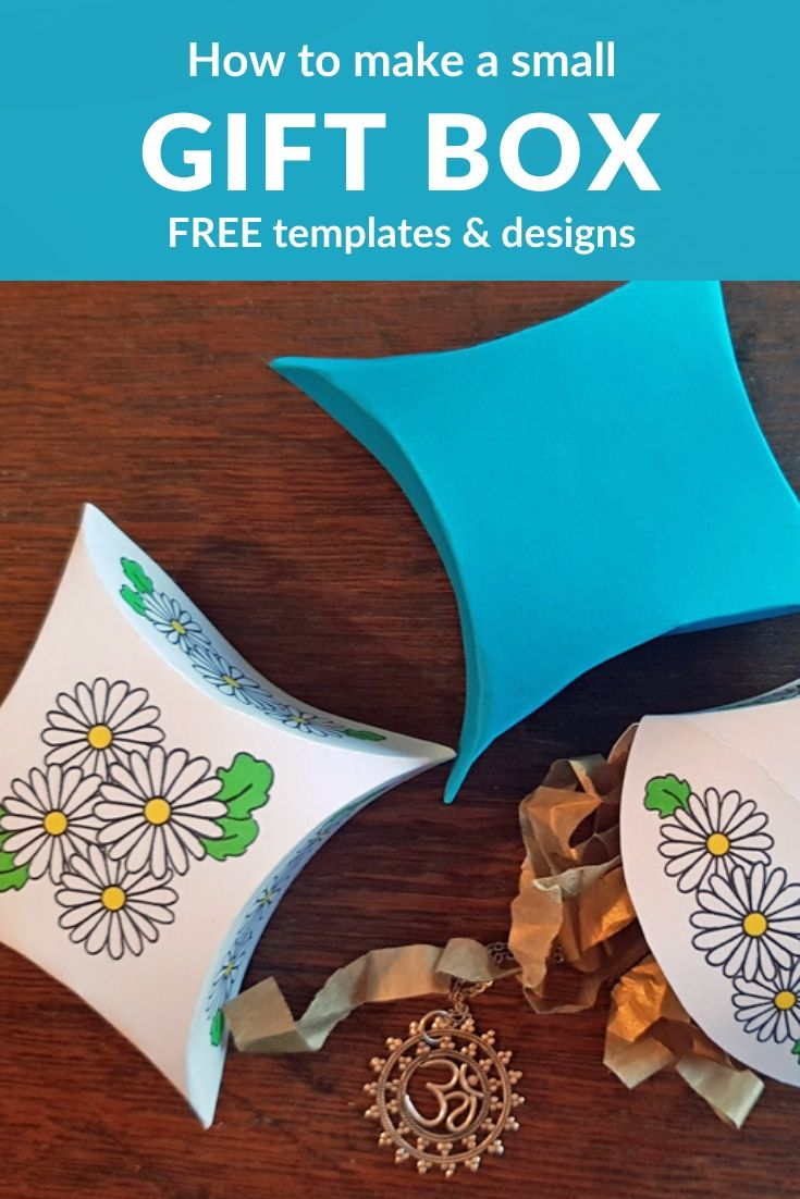 Free temapltes to make a small gift box #giftbox #colouring #papercraft