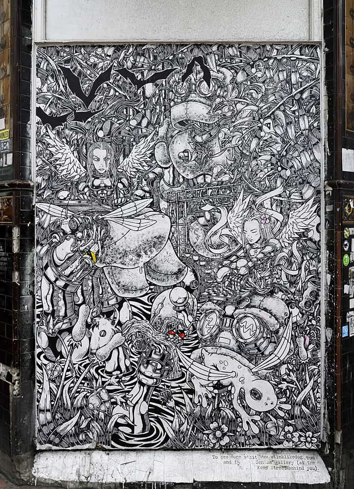 Stink Like Dog's street art in Brghton