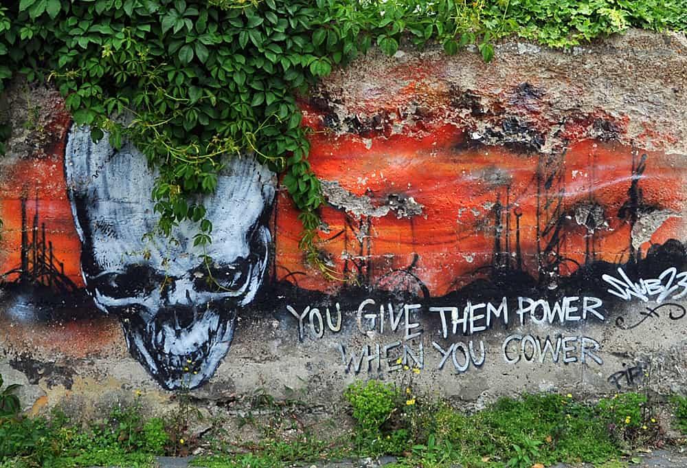 street art in Trafalgar Lane, Brigton, England