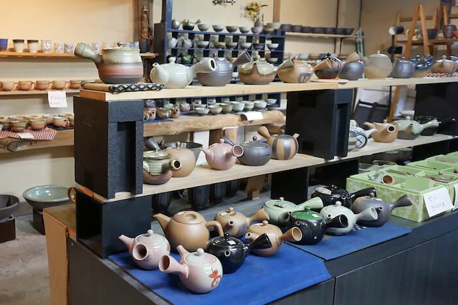 Pottery store in Tokoname selling Tea pots, Japan
