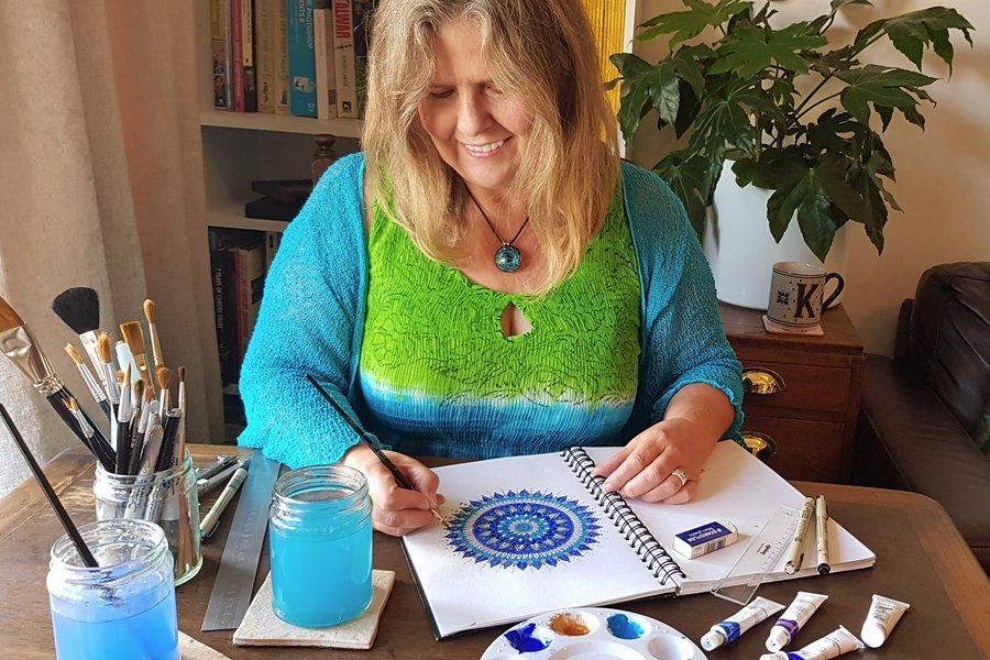 Kathryn Burrington, Mandala Meadow | Mandla art classes for beginners