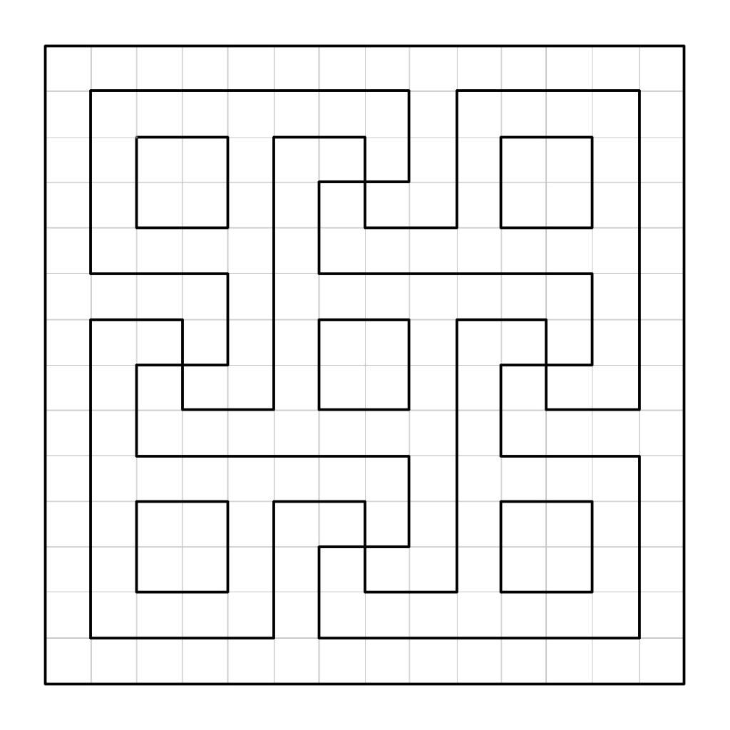 oman pattern | Meandering Roman swastika pattern