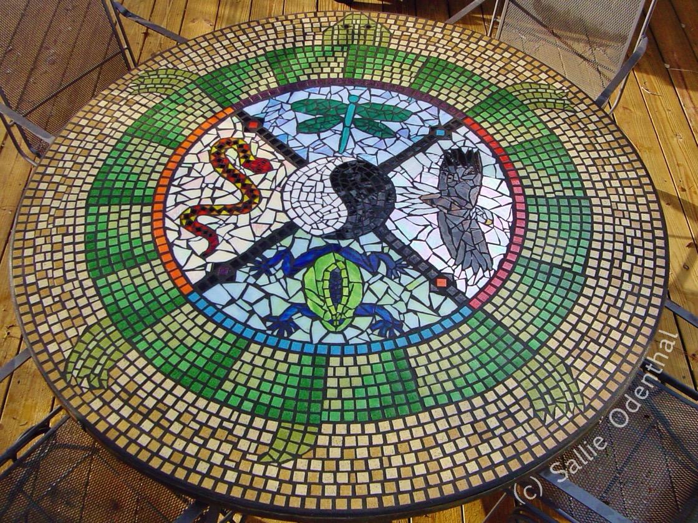 137 Mosaic Medicine Wheel Table Mandala Mandala Of