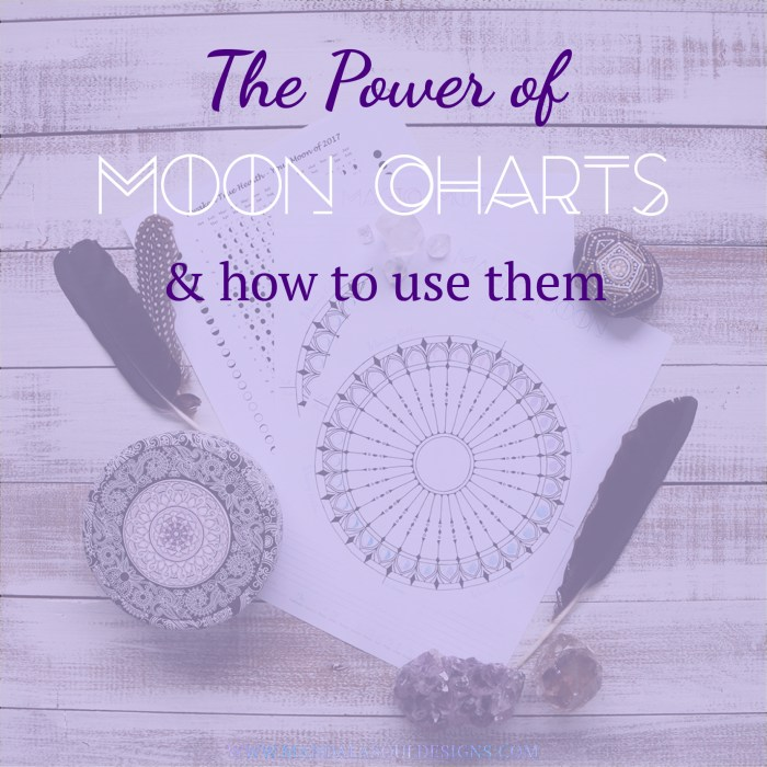 Moon Charts and How to use them || Mandala Soul Designs