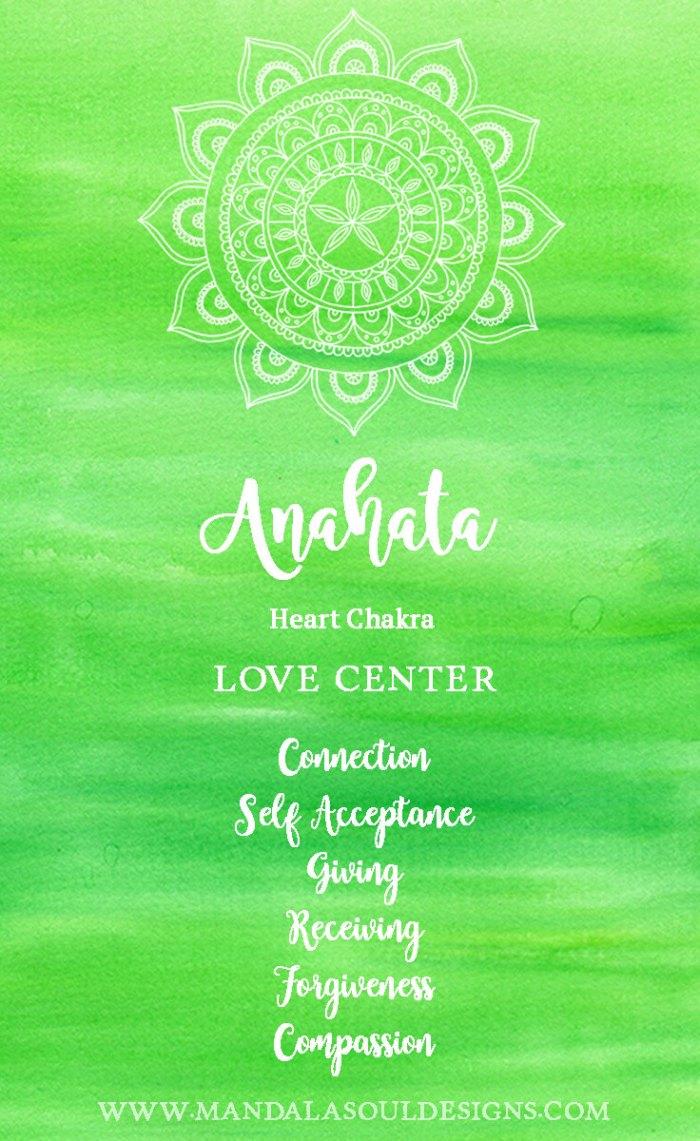 Heart Chakra - Anahata    Mandala Soul Designs