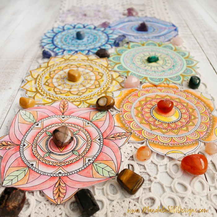 Chakras Mandalas Crystal Grids || Free ebook about Chakra Balancing and printable Mandalas || Mandala Soul Designs