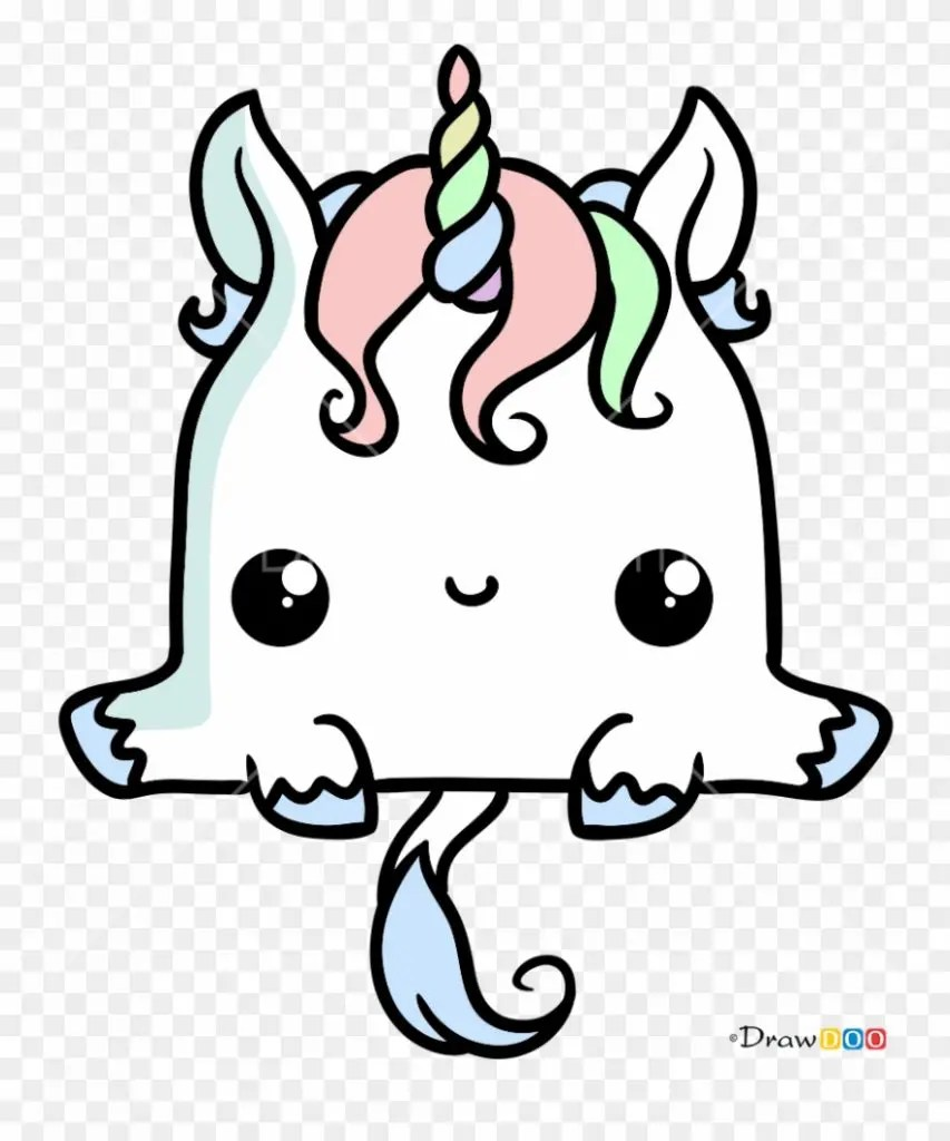 colorear unicornio dibujos kawaii de animales  novocomtop