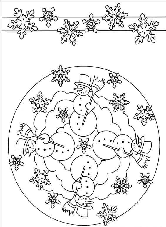 Mandalas Dibujos De Navidad Para Colorear E Imprimir Grandes