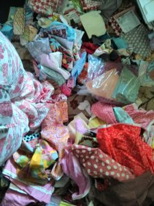 Fabric from a garage sale.  A whole bag of half-yard cuts of Hope Valley!