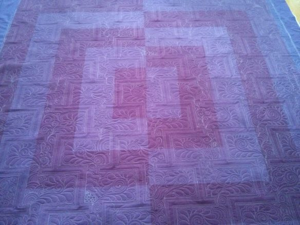 I really love this.  It's like two quilts in one.