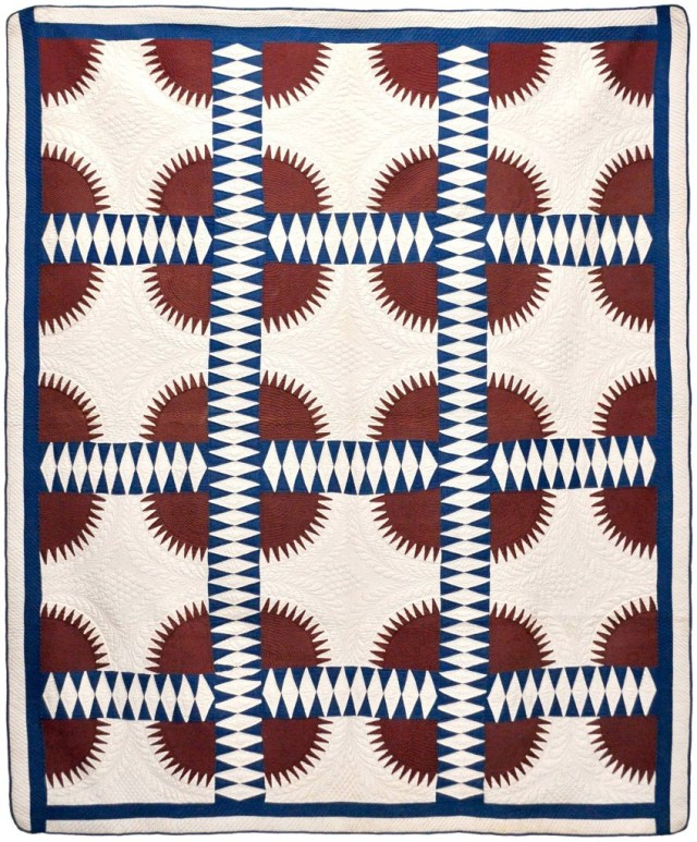 "c. 1860, unknown maker. Quilt from ""Why Quilts Matter, History Art & Politics"" courtesy of The Volckening Collection."