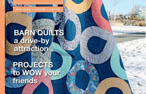 My quilting is on a cover quilt for American Quilter!