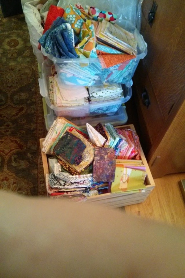 I donated about 200 yards of fabric to various causes.