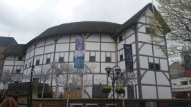 We walked past the Globe, as well