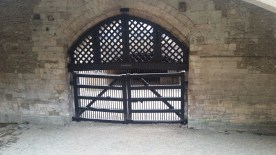 The wrong side of Traitors Gate....