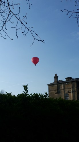 We spotted a lone balloon floating around in the sky