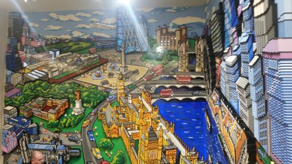 Lego mural of London