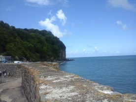Along the harbour wall