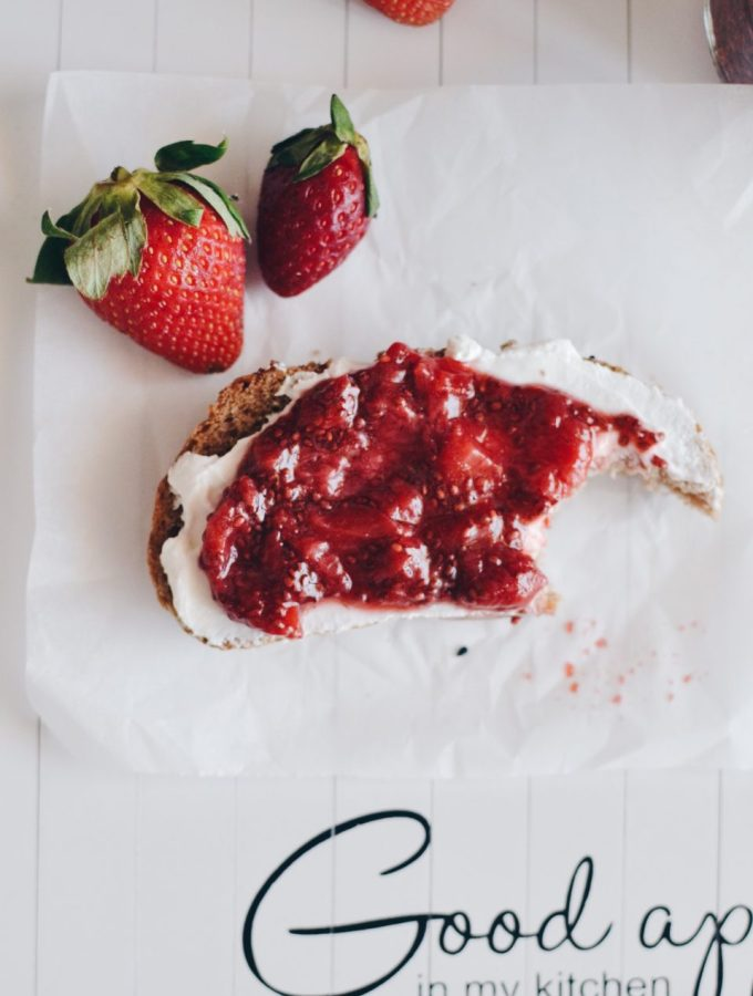 Healthy strawberry chia jam that is ready in few minutes