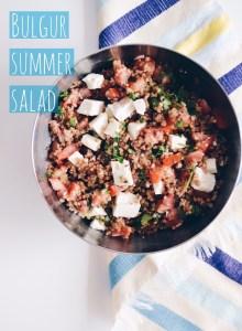 Bulgur summer salad