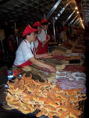 Wangfujing market in Beijing