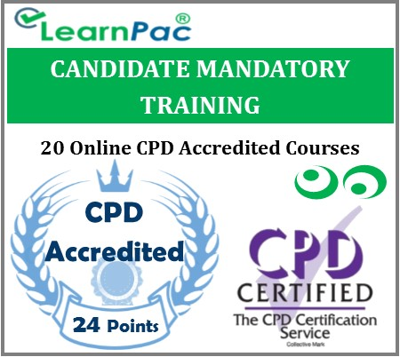 Candidate Mandatory Training – 20 Online CPD Accredited & CQC Aligned Courses– MTG 1