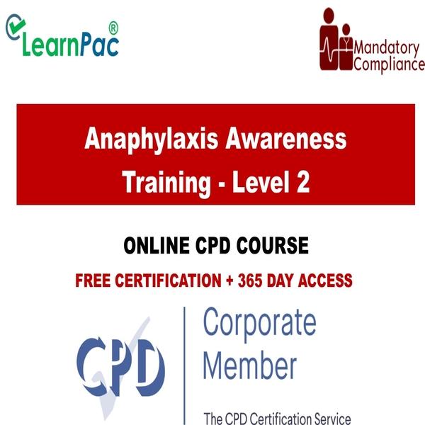 Anaphylaxis Awareness Training – Level 2 – Mandatory Training Group UK –