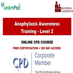 Anaphylaxis Awareness Training - Level 2 - Mandatory Training Group UK -