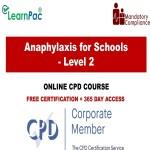Anaphylaxis for Schools – Level 2 – The Mandatory Training Group UK –
