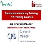 Candidate Mandatory Training Courses - 12 Online Training Courses - The Mandatory Training Group UK -