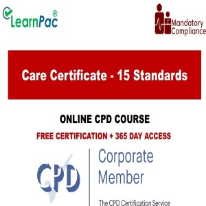 Care Certificate - 15 Standards - Mandatory Training Group UK -