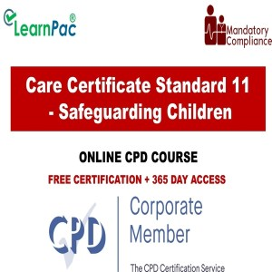 Care Certificate Standard 11 - Safeguarding Children - The Mandatory Training Group UK -