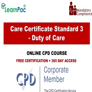 Care Certificate Standard 3 - Duty of Care - The Mandatory Training Group UK -