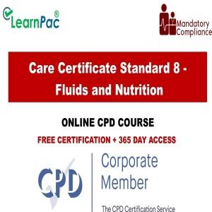 Care Certificate Standard 8 - Fluids and Nutrition - Mandatory Training Group UK -